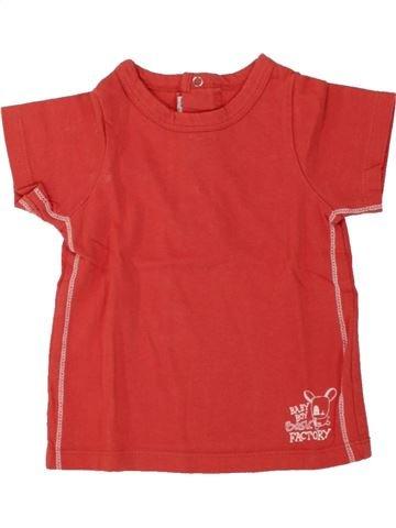 T-shirt manches courtes garçon TAPE À L'OEIL rouge 9 mois été #1553505_1