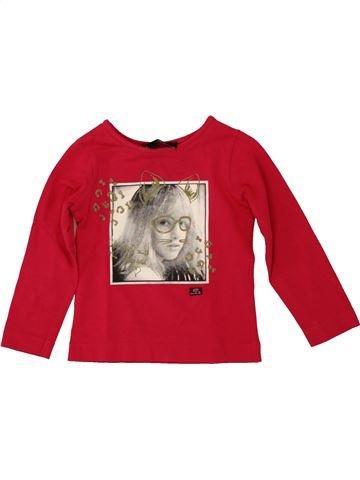 T-shirt manches longues fille LILI GAUFRETTE blanc 2 ans hiver #1553540_1