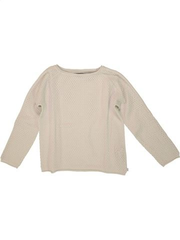 Pull fille OKAIDI beige 10 ans hiver #1553666_1