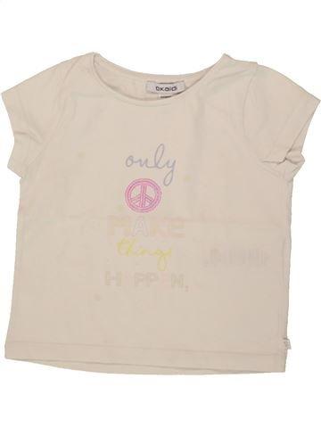 T-shirt manches courtes fille OKAIDI bleu 3 ans été #1553890_1
