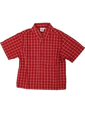 Chemise manches courtes garçon OKAIDI rouge 3 ans été #1553909_1