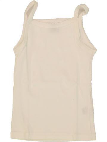 T-shirt sans manches fille PETIT BATEAU beige 3 ans été #1553973_1