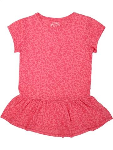 T-shirt manches courtes fille YOUNG DIMENSION rose 13 ans été #1554574_1