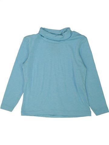 T-shirt col roulé garçon CRANE bleu 4 ans hiver #1555151_1