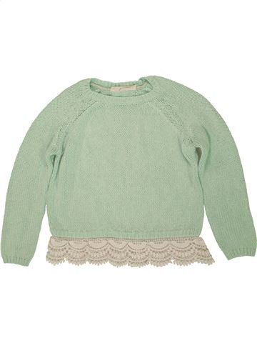 Pull fille TAMMY vert 10 ans hiver #1555843_1