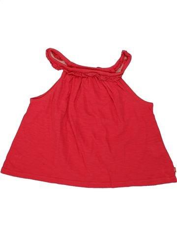 T-shirt sans manches fille OKAIDI rouge 3 ans été #1556114_1