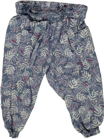 Pantalon fille TAPE À L'OEIL bleu 9 mois été #1556255_1