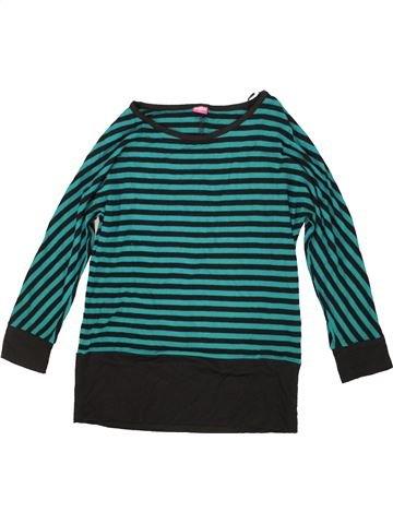 T-shirt manches longues fille KIDS vert 12 ans hiver #1556785_1