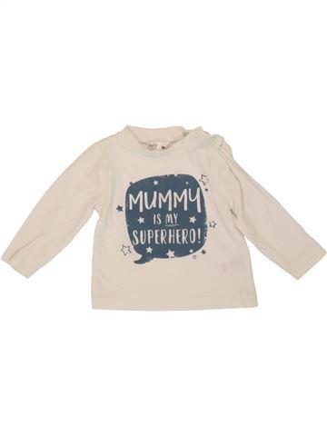 T-shirt manches longues garçon M&CO violet 6 mois hiver #1556868_1
