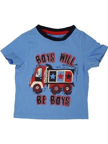 T-shirt manches courtes garçon PEP&CO bleu 12 mois été #1557344_1