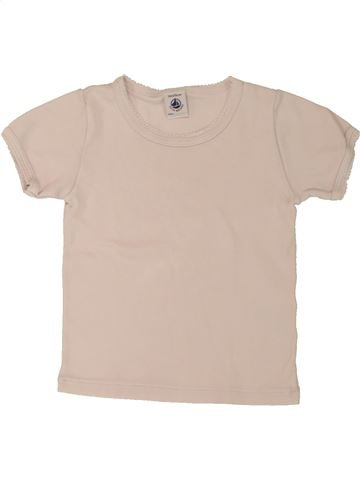 T-shirt manches courtes fille PETIT BATEAU blanc 3 ans été #1557504_1