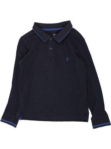 Polo manches longues garçon OKAIDI bleu foncé 5 ans hiver #1557527_1