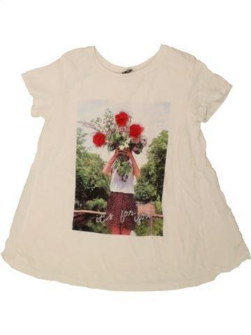 T-shirt manches courtes fille TAPE À L'OEIL bleu 8 ans été #1557550_1