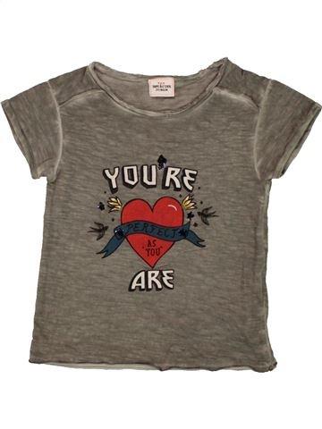 T-shirt manches courtes fille TAPE À L'OEIL marron 2 ans été #1557647_1