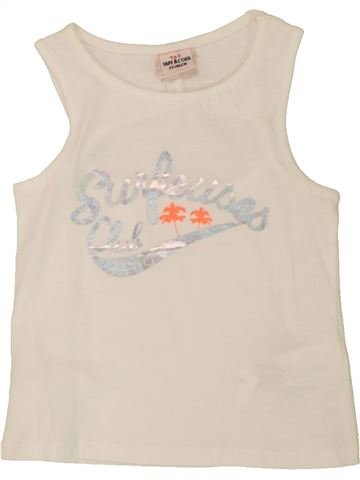 T-shirt sans manches fille TAPE À L'OEIL bleu 2 ans été #1557665_1