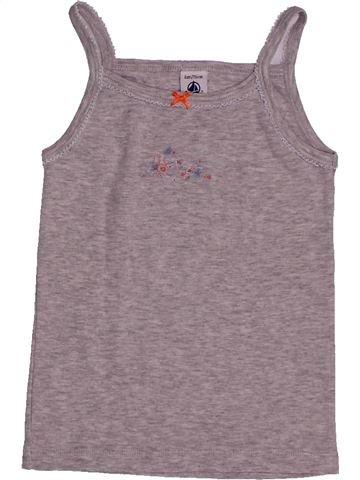 T-shirt sans manches fille PETIT BATEAU violet 6 ans été #1557872_1