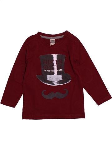 T-shirt manches longues garçon TAPE À L'OEIL violet 3 ans hiver #1557989_1