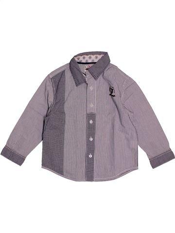 Chemise manches longues garçon OKAIDI gris 3 ans hiver #1558277_1