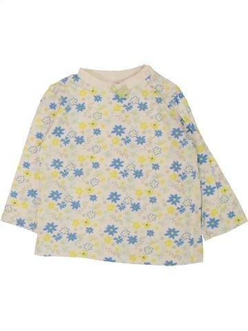 T-shirt manches longues fille PEP&CO blanc 9 mois hiver #1558333_1
