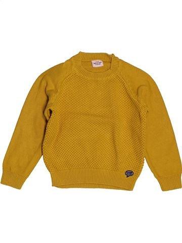 Pull garçon TAPE À L'OEIL jaune 4 ans hiver #1559042_1