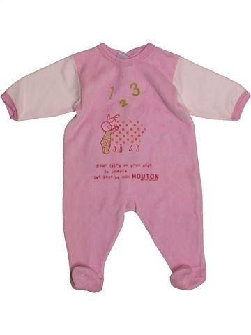 Pyjama 1 pièce fille PETIT BATEAU rose 3 mois hiver #1559919_1