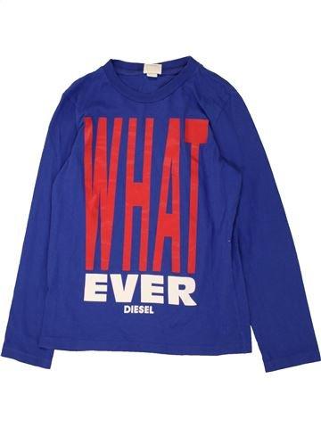 T-shirt manches longues garçon DIESEL bleu 10 ans hiver #1560109_1