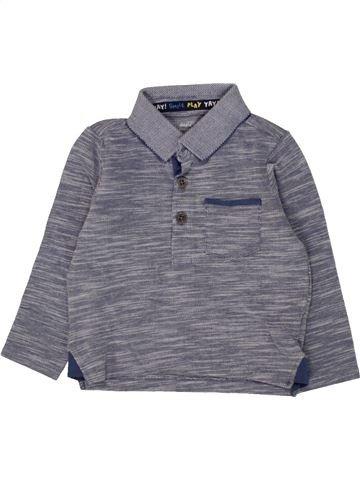 Polo manches longues garçon F&F violet 12 mois hiver #1560224_1