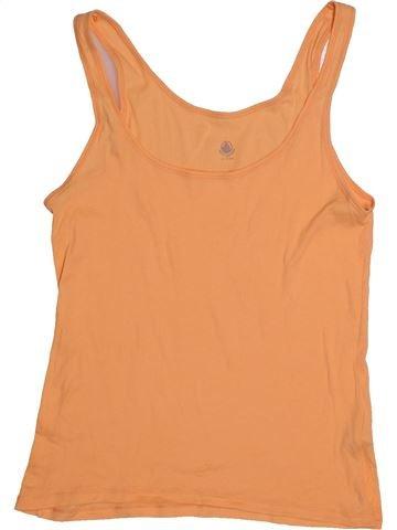 T-shirt sans manches fille PETIT BATEAU orange 16 ans été #1560270_1