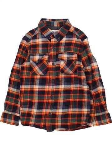 Chemise manches longues garçon M&CO marron 6 ans hiver #1560425_1