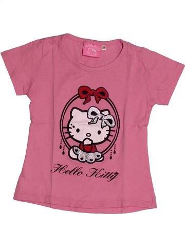 T-shirt manches courtes fille HELLO KITTY rose 4 ans été #1560970_1