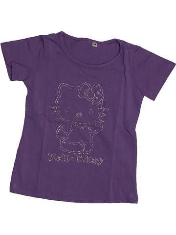 T-shirt manches courtes fille HELLO KITTY violet 4 ans été #1561006_1