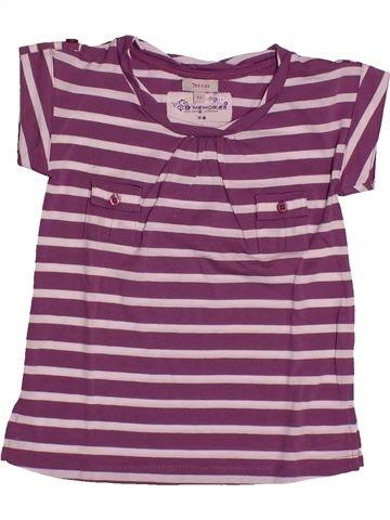 T-shirt manches courtes fille TEX rose 5 ans été #1561063_1