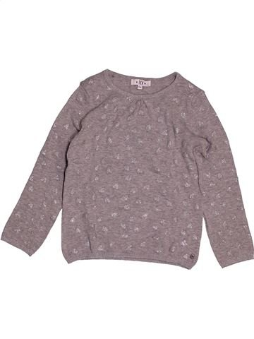 Pull fille TEX gris 6 ans hiver #1561111_1
