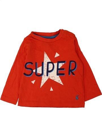 T-shirt manches longues garçon JOULES rouge 12 mois hiver #1561274_1