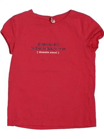 T-shirt manches courtes fille TAPE À L'OEIL rouge 5 ans été #1561775_1