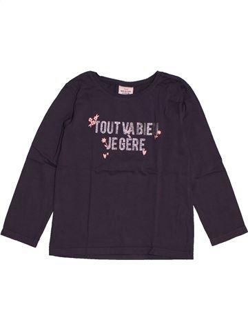 T-shirt manches longues fille TAPE À L'OEIL bleu 4 ans hiver #1562678_1