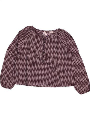 Blouse manches longues fille OKAIDI violet 6 ans hiver #1563256_1