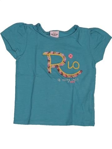 T-shirt manches courtes fille TAPE À L'OEIL bleu 2 ans été #1563472_1