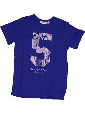 T-shirt manches courtes fille JBC bleu 4 ans été #1563474_1