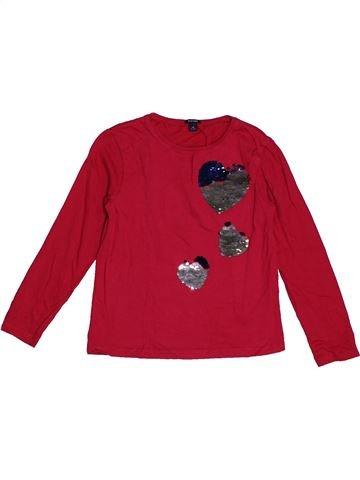 T-shirt manches longues fille KIABI rouge 6 ans hiver #1563535_1