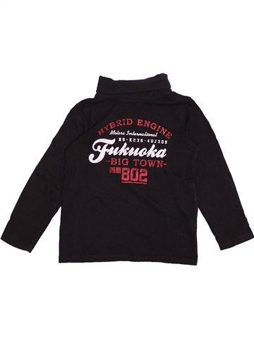 T-shirt col roulé garçon TAPE À L'OEIL noir 8 ans hiver #1563615_1