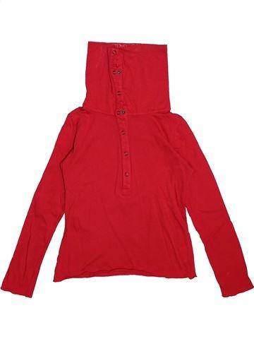 T-shirt col roulé fille IKKS rouge 8 ans hiver #1563621_1