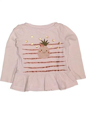 eea82c3d4365e T-shirt manches longues fille VERTBAUDET rose 4 ans hiver  1694559 1