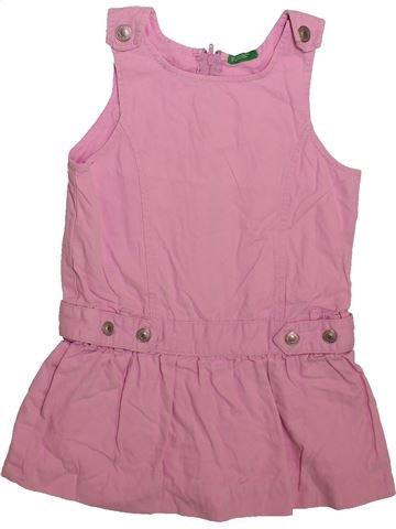 f80bd25a4 Vestido niña BENETTON rosa 4 años verano #1712805_1. 1