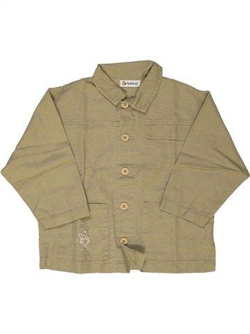 Chemise manches longues garçon ALPHABET marron 2 ans hiver #778650_1