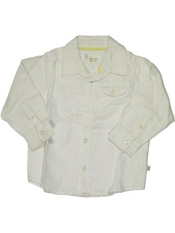 Chemise manches longues garçon OKAIDI blanc 18 mois hiver #797260_1
