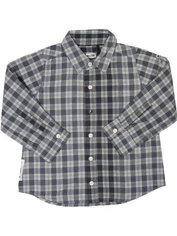Chemise manches longues garçon IKKS gris 2 ans hiver #804196_1