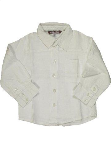 Chemise manches longues garçon OOXOO blanc 2 ans été #806271_1