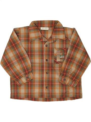 Chemise manches longues garçon GRAIN DE BLÉ marron 2 ans hiver #810218_1