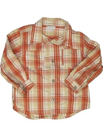 Chemise manches longues garçon KIMBALOO beige 2 ans hiver #825260_1